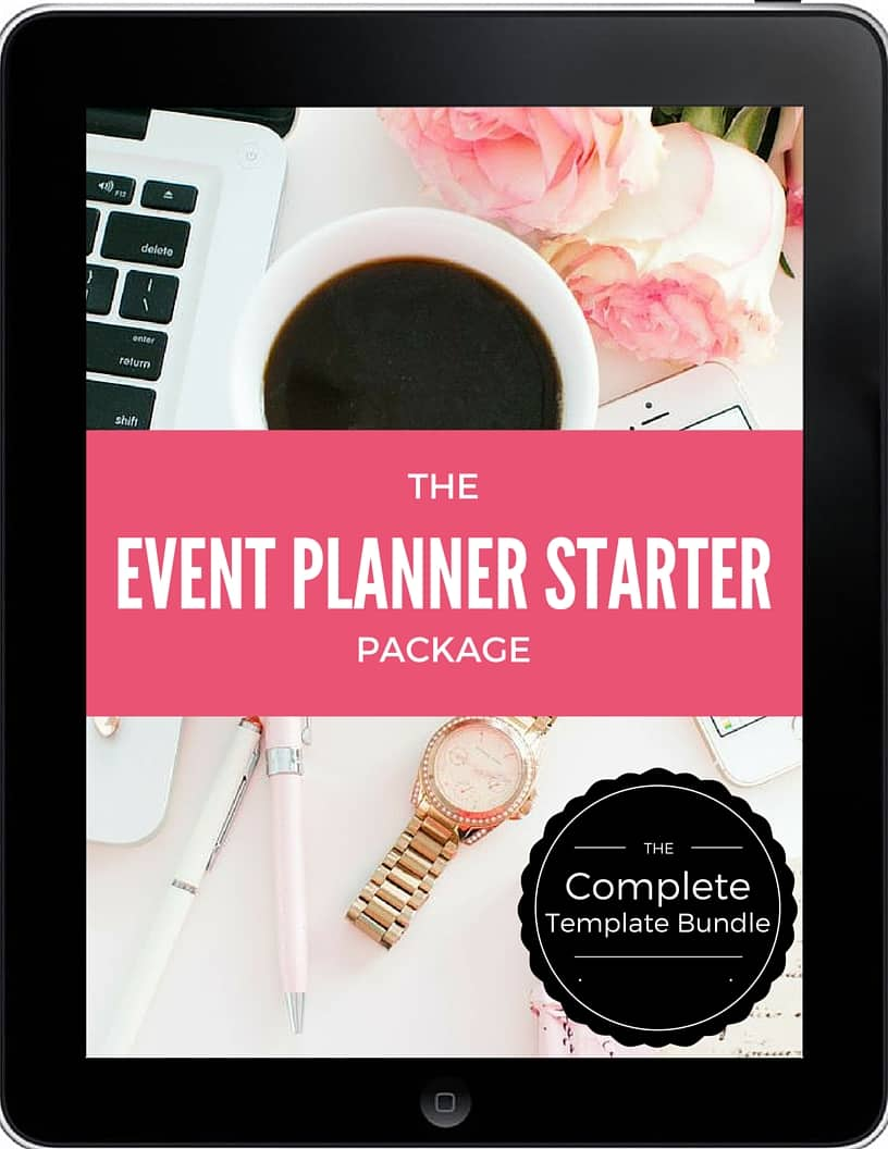 event planner template bundle event planning certificate. Black Bedroom Furniture Sets. Home Design Ideas