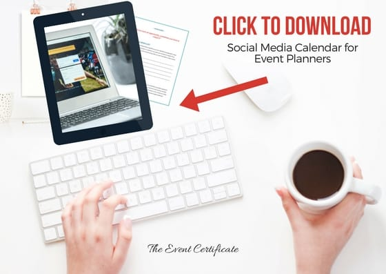 social media for event planners - freebie