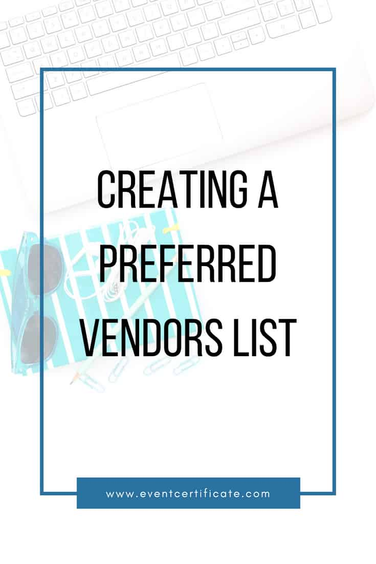 Hack How To Create A List Of Preferred Event Planning Vendors
